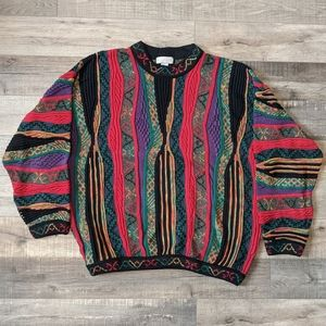 Norm Thompson Patchwork Sweater Vintage Size Large
